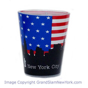 NYC US Flag Skyline Shot Glass