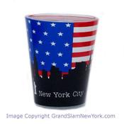 NYC US Flag Skyline Shot Glass