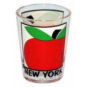 NYC Apple Design Clear Shot Glass