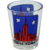 NYC Cartoon Skyline Shot Glass