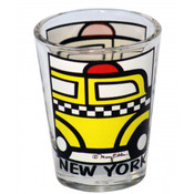 NYC Cartoon Taxi Shot Glass