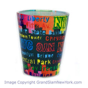 NYC Location Type Colorful Shot Glass