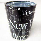 NYC Landmarks Black Shot Glass