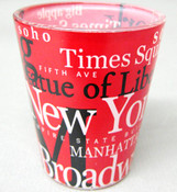 NYC Landmarks Red Shot Glass