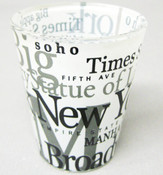 NYC Landmarks White Shot Glass