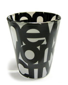 NYC Bold Black and White Shotglass