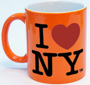 I Love NY Mug - Bright Orange