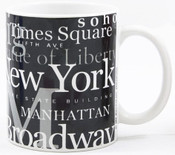 "NYC ""Hotspots"" Black 11 oz. Mug"