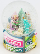 NYC Pastel Street Signs 65mm Snowglobe