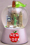 NYC Big Apple Shaped 65mm Snowglobe