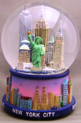 NYC Skyline at Sunset 100mm Snowglobe