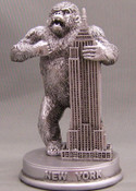 King Kong Empire State Pewter Figurine - 3 Inch