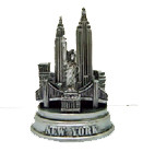 NYC Mini Pewter Skyline Model - Round