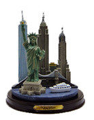 NYC Icons with Freedom Tower Color Paper Weight - Medium