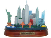 NY City Skyline Color Model - Oval