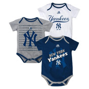 "Yankees Baby ""Triple Play"" 3pc. Bodysuit Set"