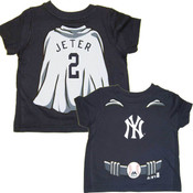 "Yankees Toddler Derek Jeter ""Super Baby"" Navy Tee"