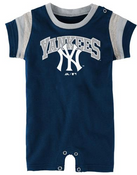 "Yankees Baby Adidas ""Bat Boy"" Romper"