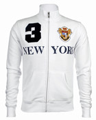 White New York 3 Series Full Zip Sweatshirt - front