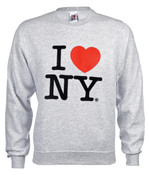 I Love NY Crewneck Sweatshirt - Grey