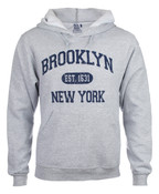 Brooklyn Est 1631 Hooded Sweatshirt - Grey