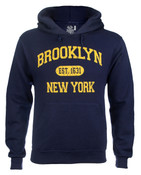 Brooklyn Est 1631 Hooded Sweatshirt - Navy