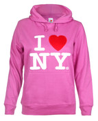 I Love NY Junior Hooded Sweatshirt - Purple