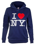 I Love NY Junior Hooded Sweatshirt - Navy
