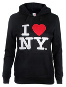 I Love NY Junior Hooded Sweatshirt - Black
