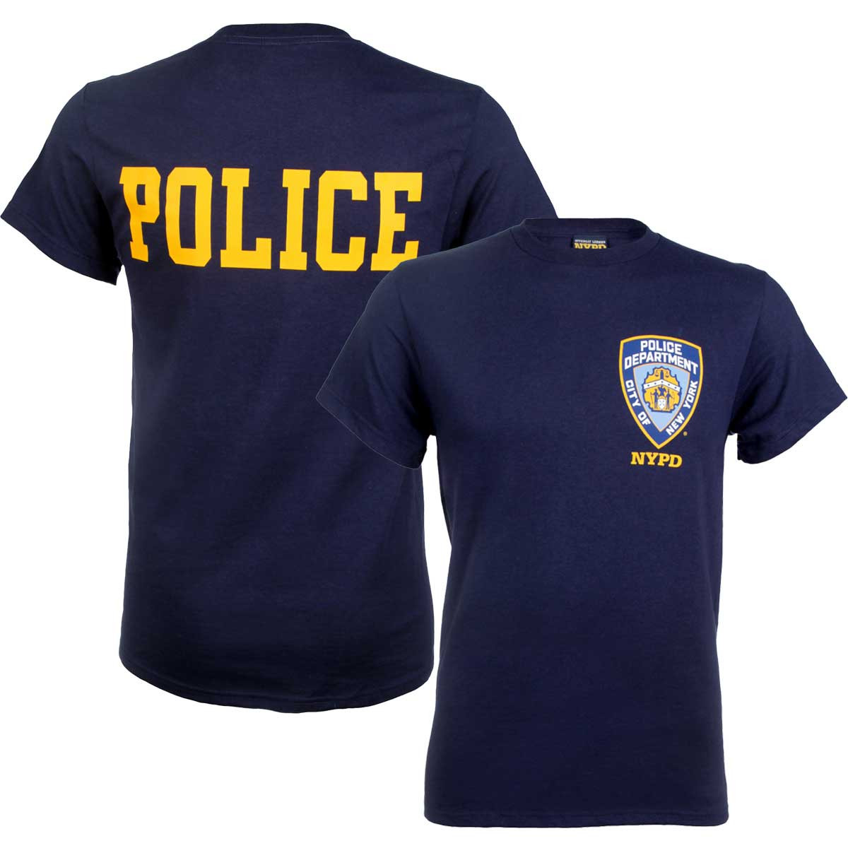 Nypd badge t shirt with police on back for Nyc custom t shirts