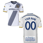 LA Galaxy Personalized White Jersey: Replica Adult Primary Jersey