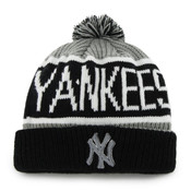 NY Yankees Black Calgary Knit Hat