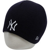 NY Yankees Navy Ribbed Beanie Knit Hat