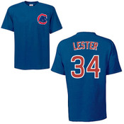 Jon Lester T-Shirt - Navy Chicago Cubs Adult T-Shirt