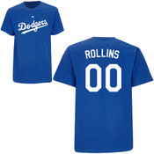 Jimmy Rollins T-Shirt - Royal Blue La Dodgers Adult T-Shirt