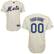 NY Mets Replica Personalized Youth Ivory 2014 Jersey