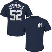Yoenis Cespedes T-Shirt - Navy Detroit Tigers Adult T-Shirt