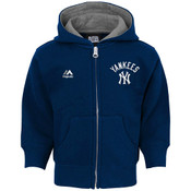 Yankees Navy Kids Hooded Sweatshirt