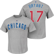 Kris Bryant T-Shirt - Grey Chicago Cubs Adult T-Shirt
