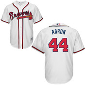 Hank Aaron Jersey - Atlanta Braves Replica Adult Home Jersey
