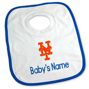 NY Mets Personalized Pullover Baby Bib