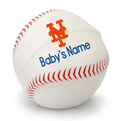 NY Mets Personalized Baseball Pillow