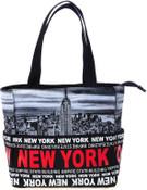 Robin-Ruth NY Red/Black Small Tote Bag