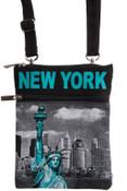 Robin-Ruth NY Blue Liberty Neck Wallet