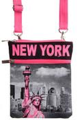 Robin-Ruth NY Pink Liberty Neck Wallet
