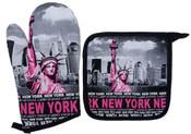 Robin-Ruth NY Pink Liberty Oven Mitt Set