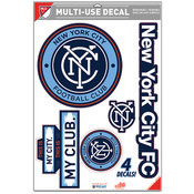 NYCFC 4-Pack Multi-Use Logo Decals
