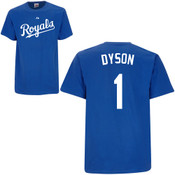 Jarrod Dyson T-Shirt - Royal Blue Kansas City Royals Adult T-Shirt