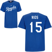Alex Rios T-Shirt - Royal Blue Kansas City Royals Adult T-Shirt