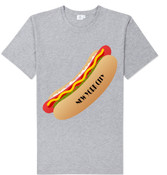 NY Hot Dog T-shirt -Grey